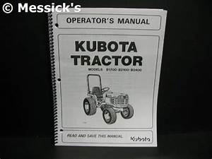 Kubota  B1700 B2100 B2400 Operators Manual  Part   6c040