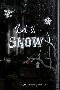 Fenster Bemalen Weihnachten : ein schweizer garten let it snow fenstermalereien ~ Watch28wear.com Haus und Dekorationen