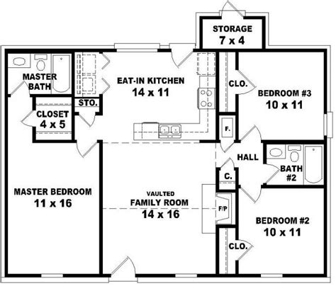 cool affordable  bedroom house plans  home plans design