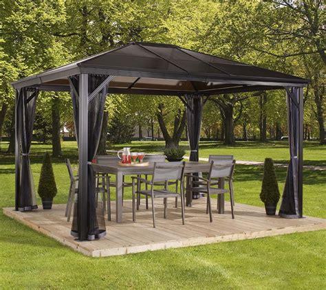 hardtop pavillon 3x4 sojag aluminium pavillon gazebo verona 10x14 inkl moskitonetz 298x423 cm mygardenhome