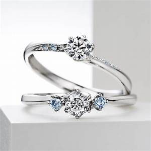 venus tears engagement ring sirena azzurrocustomised With wedding rings japan