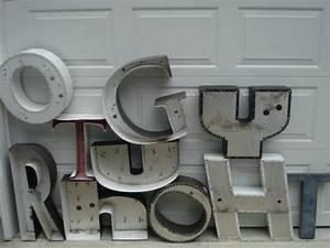 vintage large sheet metal letter o number 2 With sheet metal letters