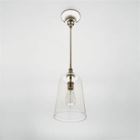 henry pendant with blown glass shade eclectic