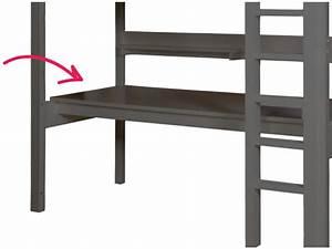 Planche De Bureau : bopita planche de bureau pour lit mezzanine combiflex xl gris profond ~ Teatrodelosmanantiales.com Idées de Décoration