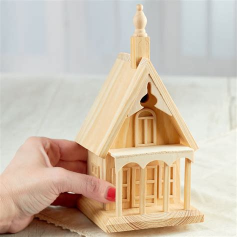 unfinished wood village house wood craft kits wood