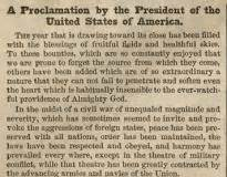 thanksgiving proclamation 1863 the gilder lehrman institute of american history
