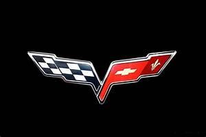2005 Corvette Crossed Flag Logo