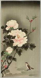 Imao Keinen: Sparrow and Peonies - Artelino | Japanese ...