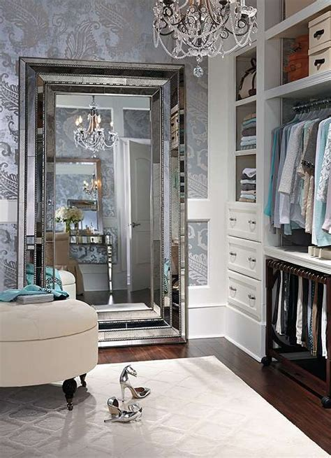 walk in closet with a mirror a gorgeous