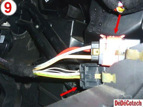 changer de si鑒e air changer résistance ventilateur habitacle 307 clim auto tuto