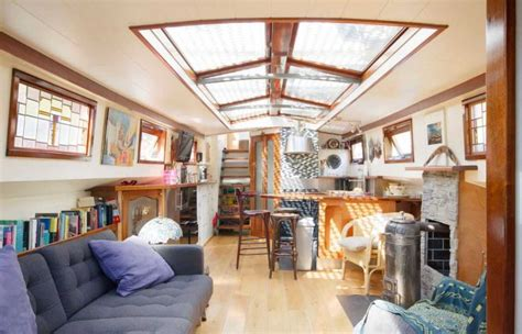 Old Boat Turned Into House by Old Boat Gets Converted Into A Beautiful House Barge 17 Pics