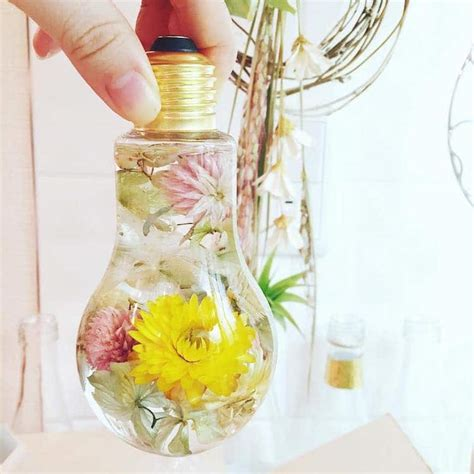 Flower Light Bulb Vase Suspends Beautiful Blooms Like