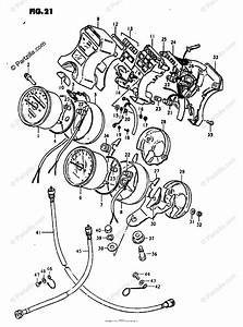 Suzuki Motorcycle 1980 Oem Parts Diagram For Speedometer