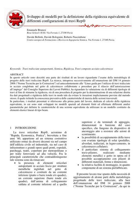 travi tralicciate pdf sviluppo di modelli per la definizione della
