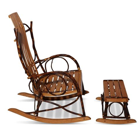amish bentwood rocker and footstool at 1stdibs