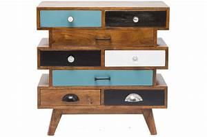 Commode 8 Tiroirs : commode multicolore en bois 8 tiroirs commode pas cher ~ Teatrodelosmanantiales.com Idées de Décoration