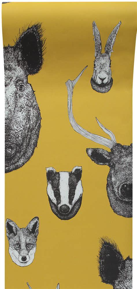 vestige  graduate collection mustard wallpaper direct
