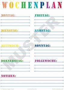 Wochenplan Haushalt Familie : printable wochenplan zum kostenlosen download ~ Markanthonyermac.com Haus und Dekorationen