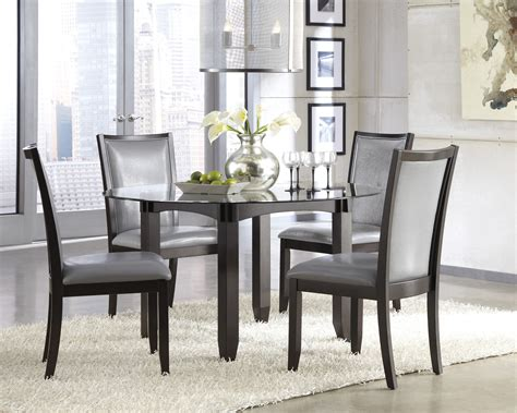classy grey dining table color  home redesign