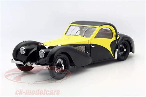De bugatti atalante type 57sc in schaal 1:12. Bauer 1:12 Bugatti Atalante Type 57 SC 年 1937 ブラック / 黄色 7828-Z75Y モデル 車 7828-Z75Y