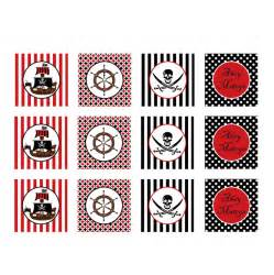 circus cake toppers pirate printable cupcake toppers