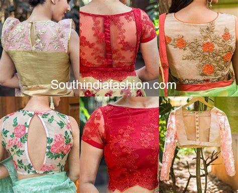 stylish net blouse designs south india fashion
