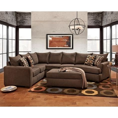 Affordable Sectional Sofas by Brown Sectional Sofa With Cuddler Essence Earth By