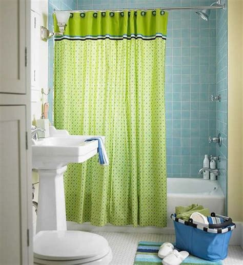 small bathroom shower curtain ideas lime green accents curtain for small bathroom design