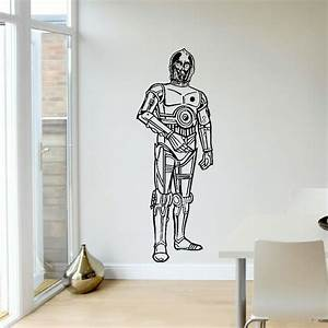 LARGE LIFE SIZE UPTO 5FT CP30 CP 30 STAR WARS WALL ART ...