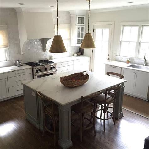 gray kitchen island gray kitchen island with gold pendants transitional 1326