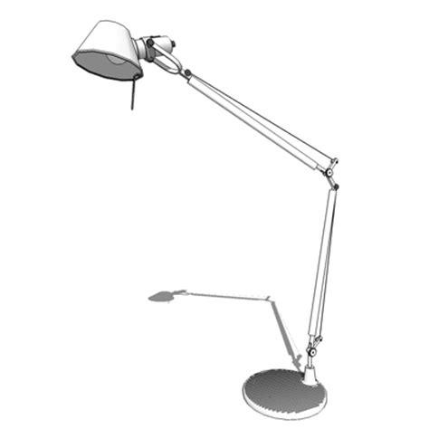 tolomeo desk l replica tolomeo table l 3d model formfonts 3d models textures