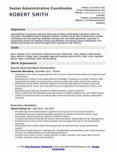 Event Planner Career Objective And Career Summary Administrative Coordinator Resume Samples Qwikresume