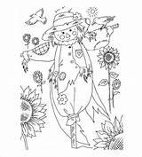 Coloring Autumn Pdf Word Template Crow Templates Colorat Toamna Scare Colouring Splendi Inspirations Planse Desene Credit Larger Activity Cu sketch template
