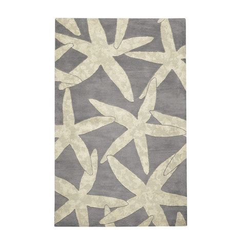 starfish area rug home decorators collection starfish grey 5 ft x 8 ft