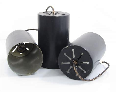 vintage raak cylinder sixties pendant lights