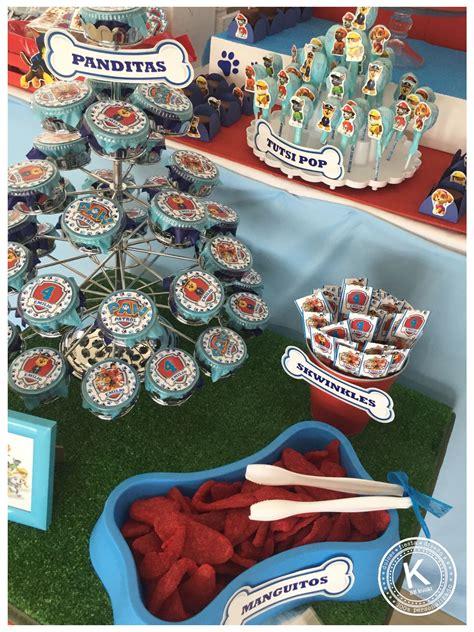 mesa de dulces candy bar cumpleanos paw patrol