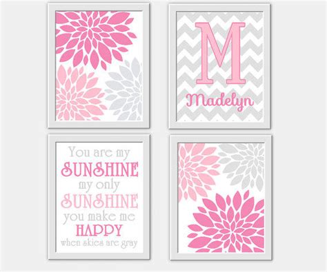 baby nursery wall pink gray you from dezignerheartdesign