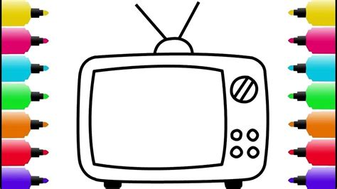 draw  color tv coloring pages   kids
