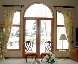 brown vertical stripped curtains for large glass