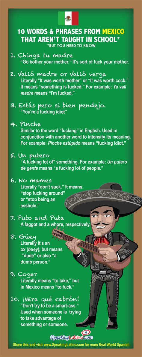 How Do You Say Resume In Mexican by 10 Mexican Swear Words And Phrases Not Taught In School Mexican And