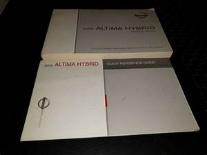 2009 Nissan Altima Hybrid Owners Manual W   Quick Ref Guide