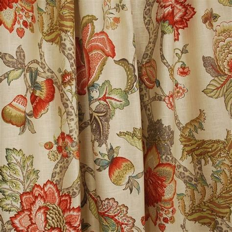malawi khaki floral jacobean fabric traditional