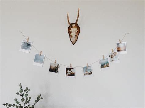 Fotos Aufhängen Schnur by Polaroid Foto Schnur Klammern Wohnzimmer 252 Berm Sofa Foto