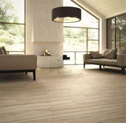 Wood Look Porcelain Tile Living Room