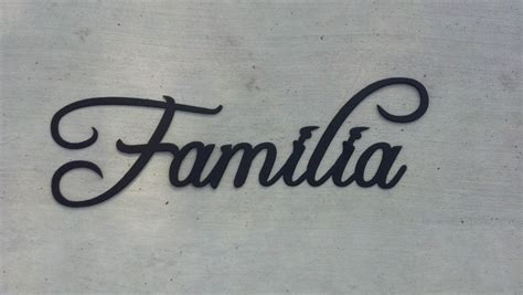made familia word word for family metal wall home decor by say it all on the