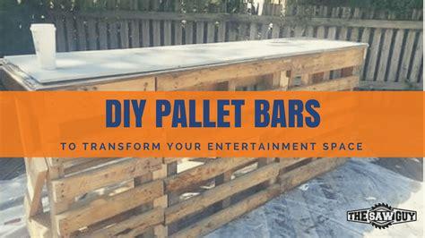 epic pallet bar ideas  transform  space   guy