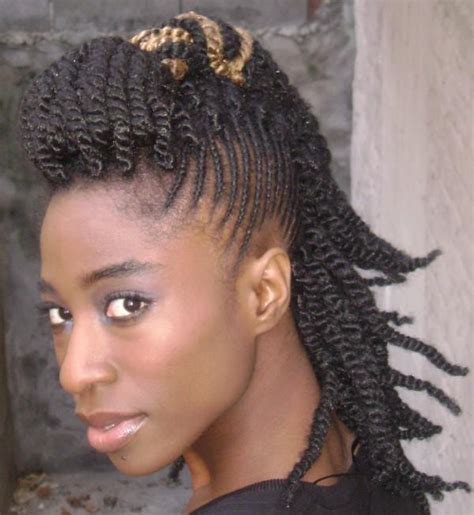 twists braids hairstyle side thirstyroots com black