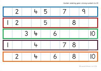 missing numbers   game  learn    tpt