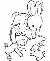 Coloring Pages Animal Toy Easter Stuffed Bunny Toys Fun Printable Doll Rabbit Gold Sheets Miner Curious George Sea Printing Activity sketch template