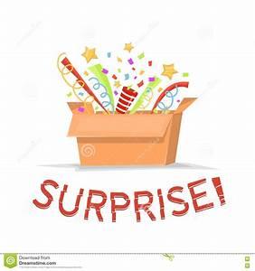 Box Surprise Femme : bo te en carton de cadeau avec le texte de surprise bo te cadeau ouvert avec des confettis ~ Preciouscoupons.com Idées de Décoration